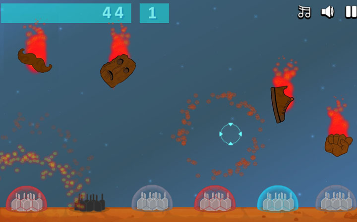 Meteor Attack - HTML5 Game - 1